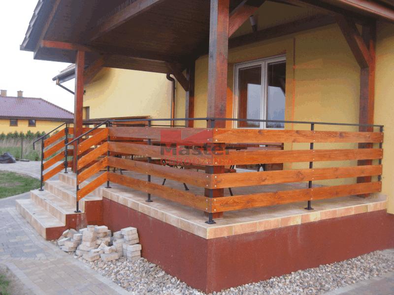 Balustrady Balkonowe Drewniane Q Housepl